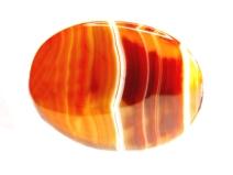 round cornelian crystal isolated